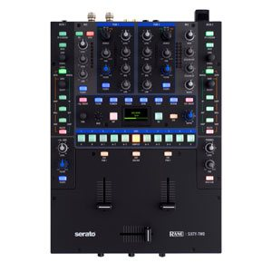 top down view of one of our rane 62 dj mixer hire options