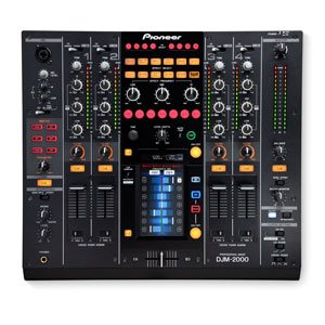 top down view of a pioneer djm 2000 for rent
