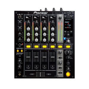 overhead view of a djm 700 dj mixer for rent