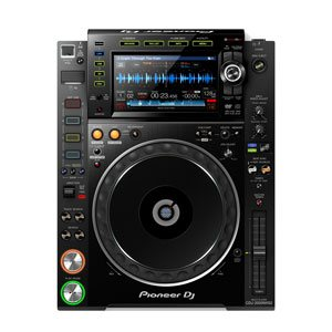 cdj hire | top down view of a pioneer cdj-2000 nexus two