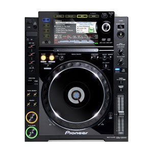 top profile view of a pioneer cdj 2000 for hire