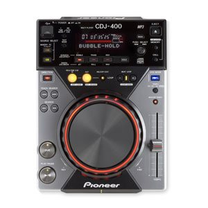 top down view of a pioneer cdj 400 for hire
