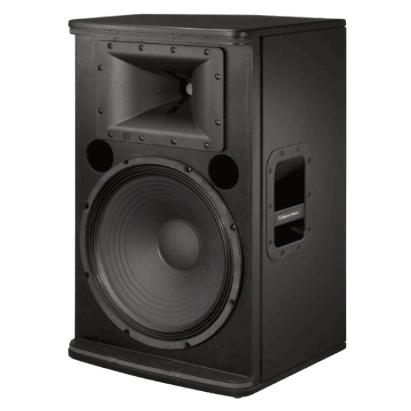 view of a speaker for hire - a EV 15 inch powered speaker