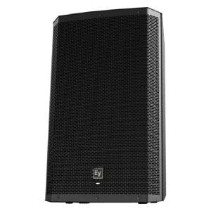 profile view of a 15inch EV powered speaker for hire