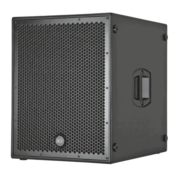 a view of a RCF 18 inch subwoofer for rent