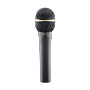 profile view of a microphone for rent