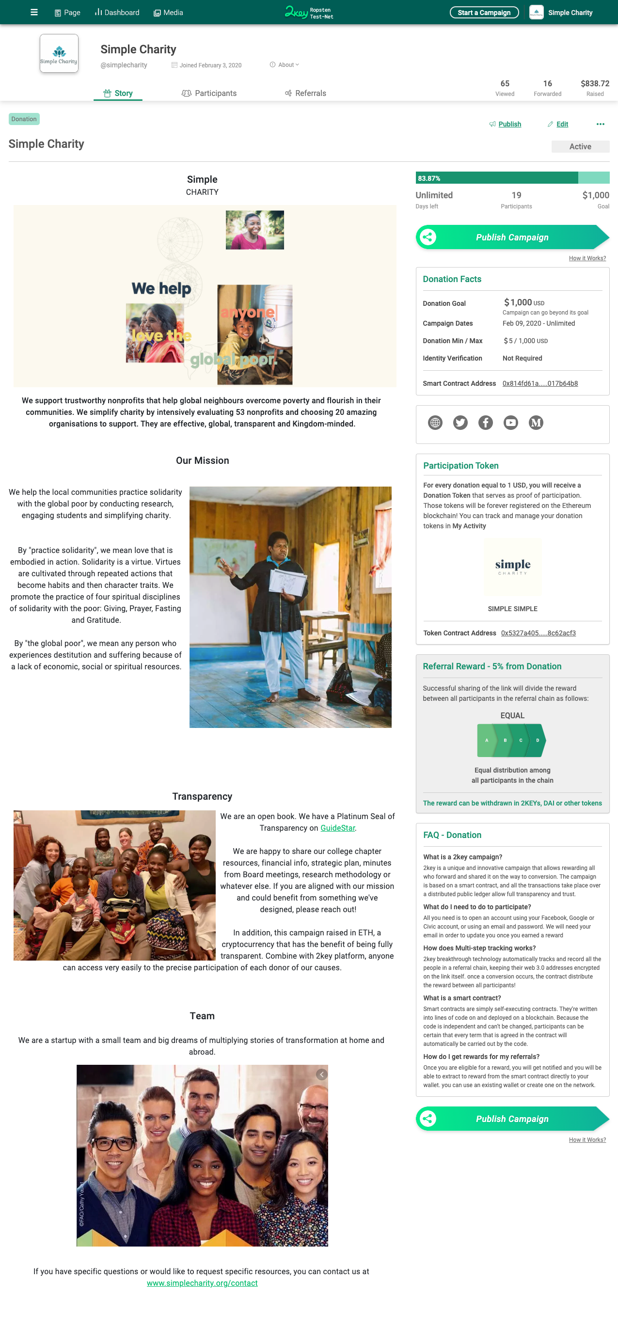 Donation SmartLink process 1
