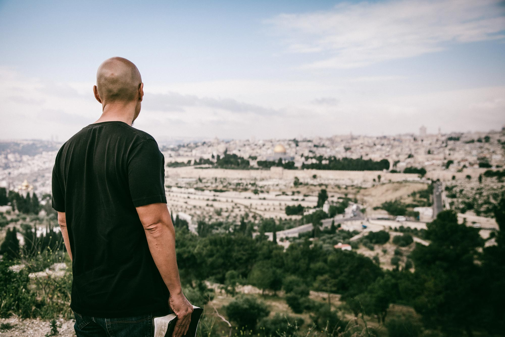 Picture of Francis Chan in Jerusalem