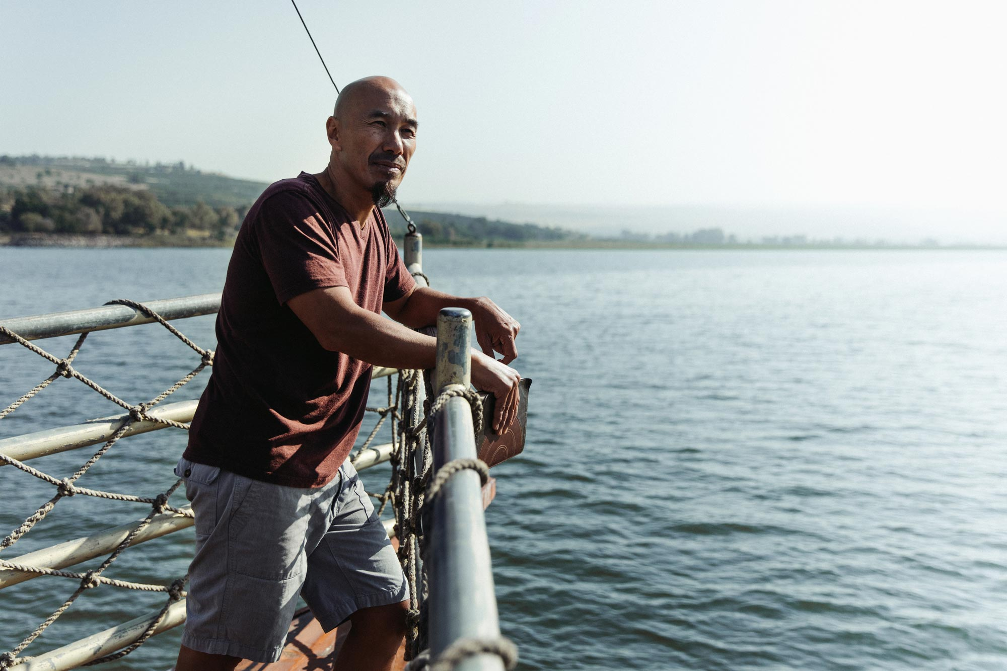 Picture of Francis Chan on the Sea of Galilee