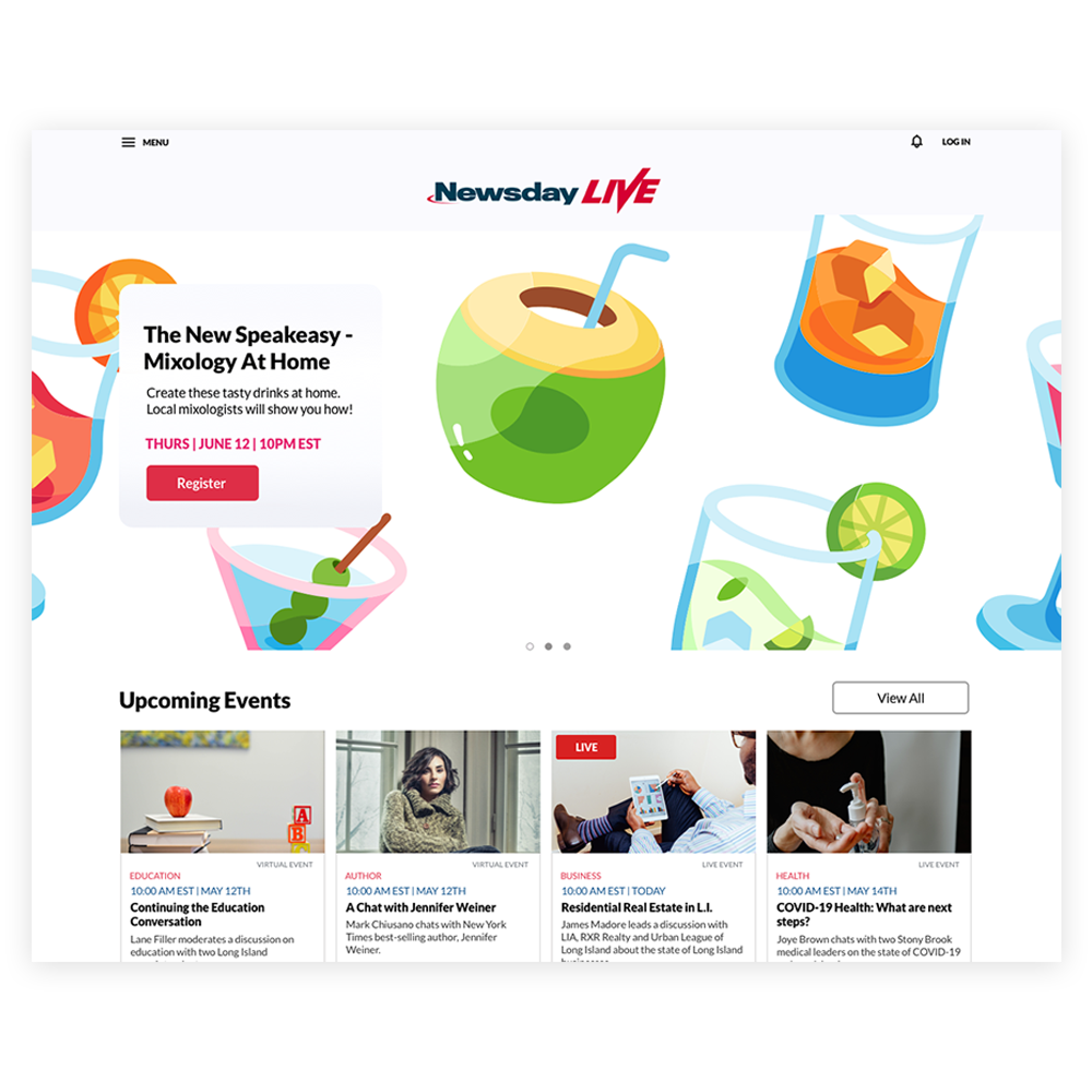 A image of a website with webinars/videos.