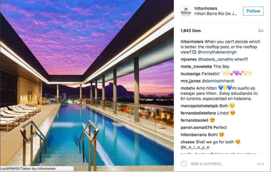 User generated content for hotels