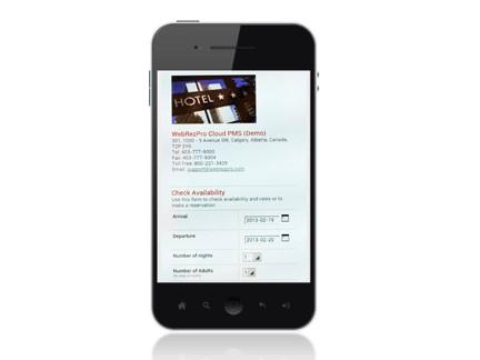 Webrezpro Pms Mobile - running Hetras Cloud Based Hotel Management Software