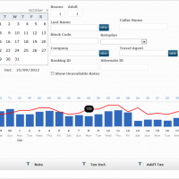 Selling screen - running Hetras Cloud Based Hotel Management Software