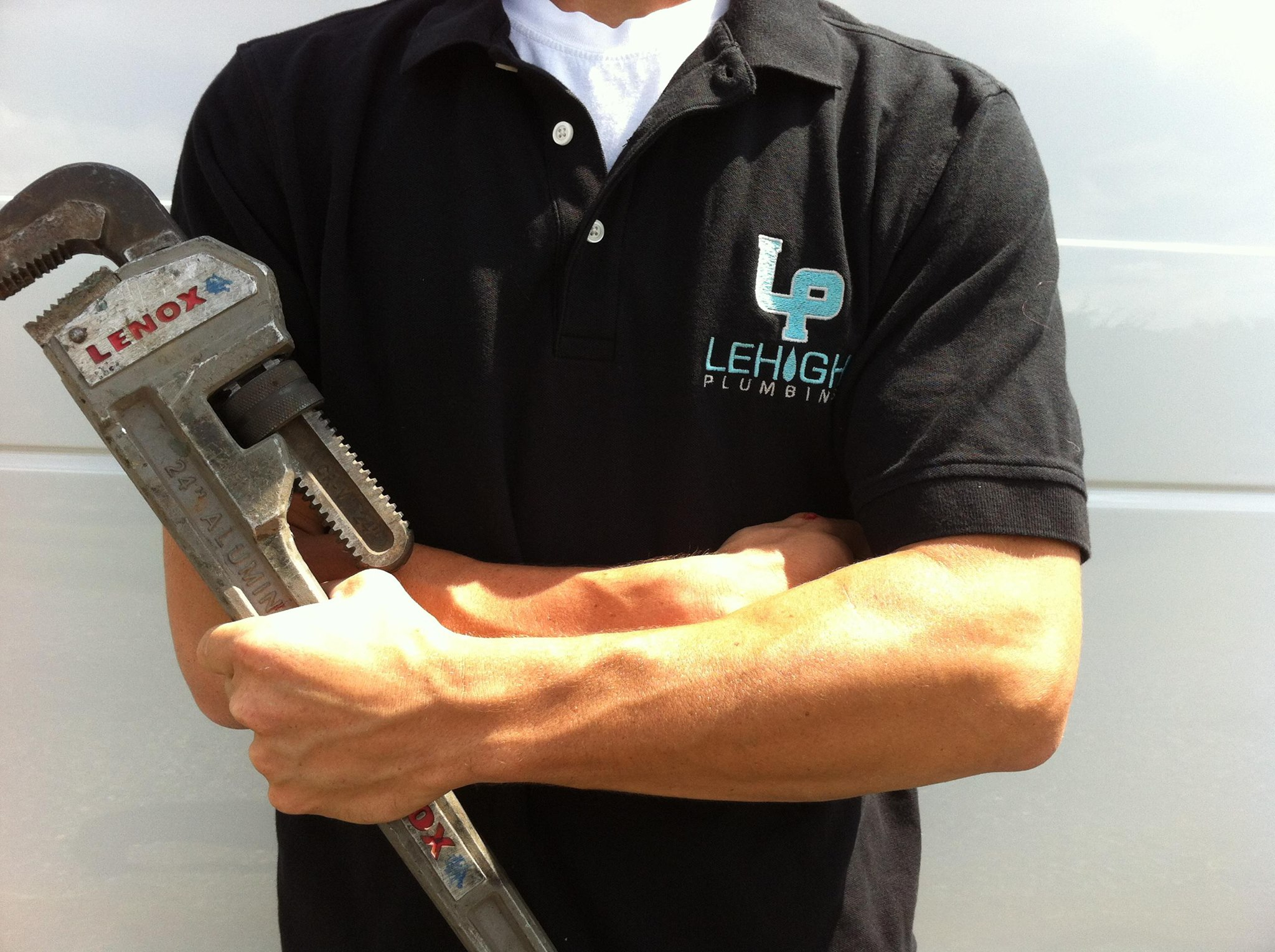 A team member from Lehigh Plumbing