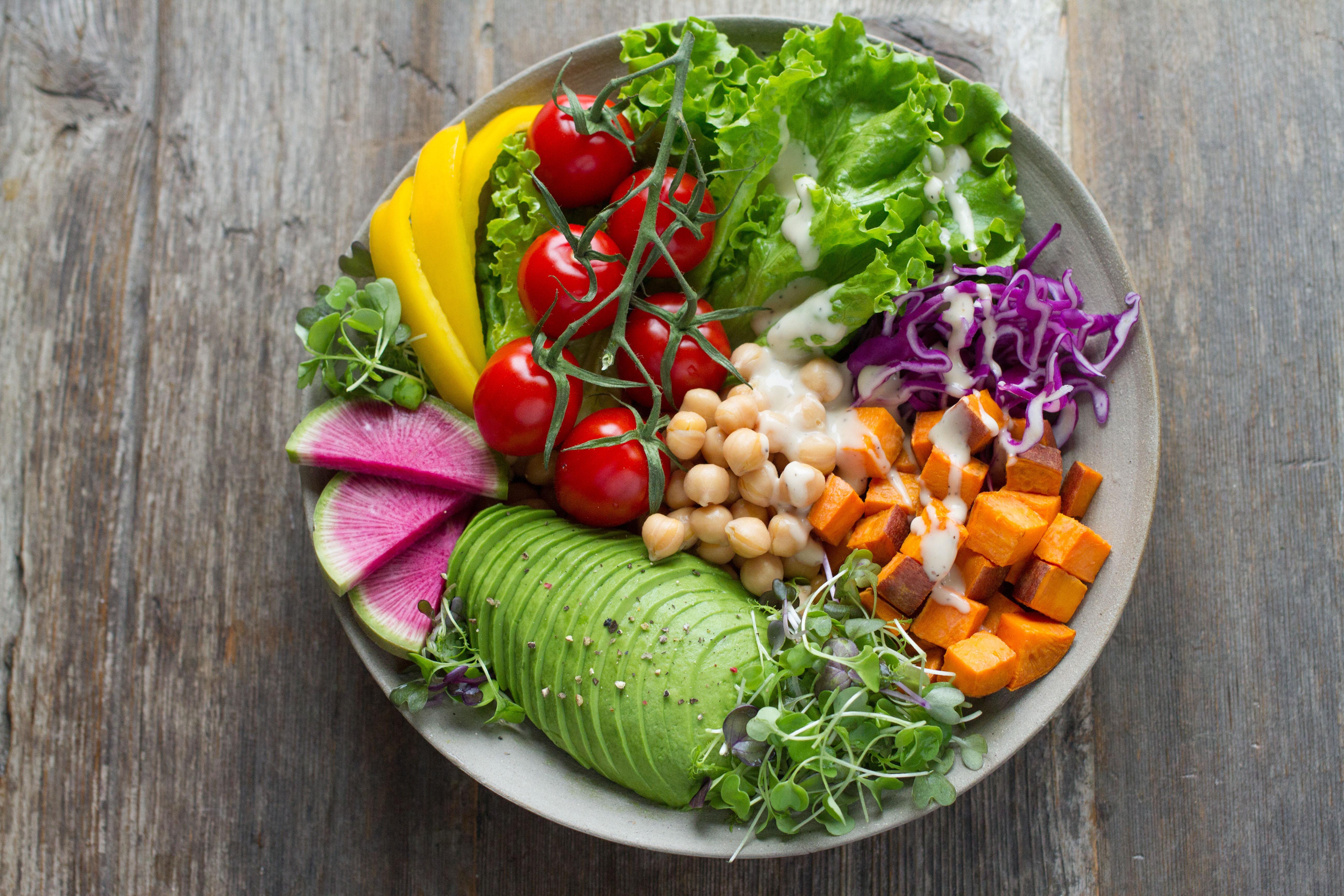 Bowl of healthy vegetables