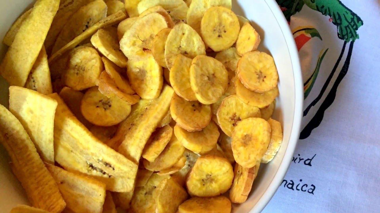 Plantain veggie chips