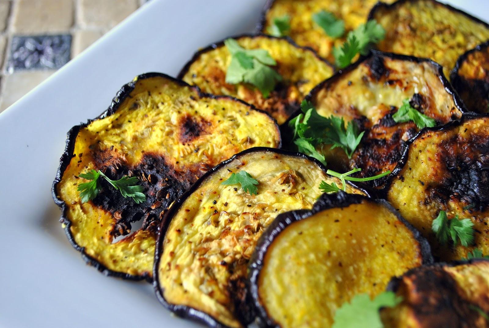 Eggplant veggie chips