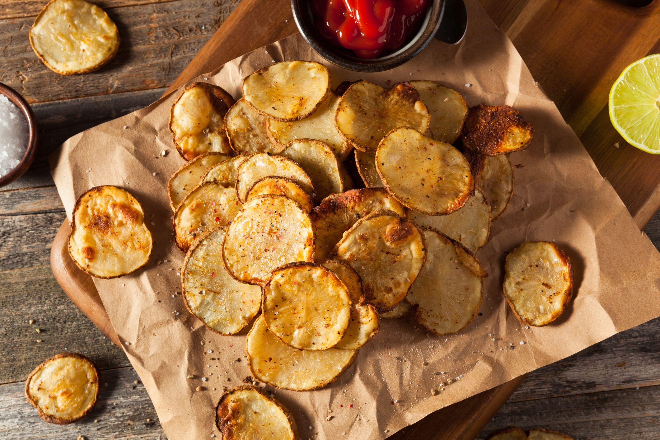 Baked potatoe chips
