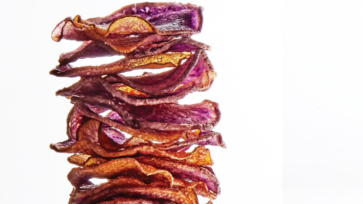 Taro root veggie chips