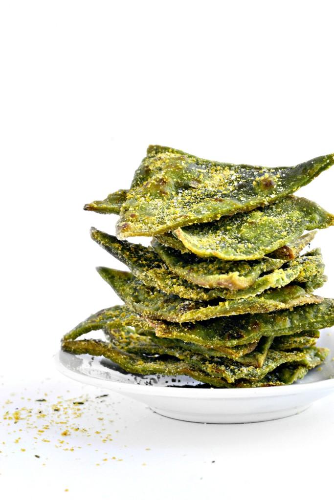 Spinach veggie chips