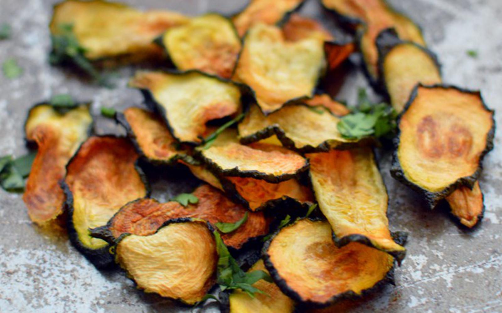 Zucchini veggie chips