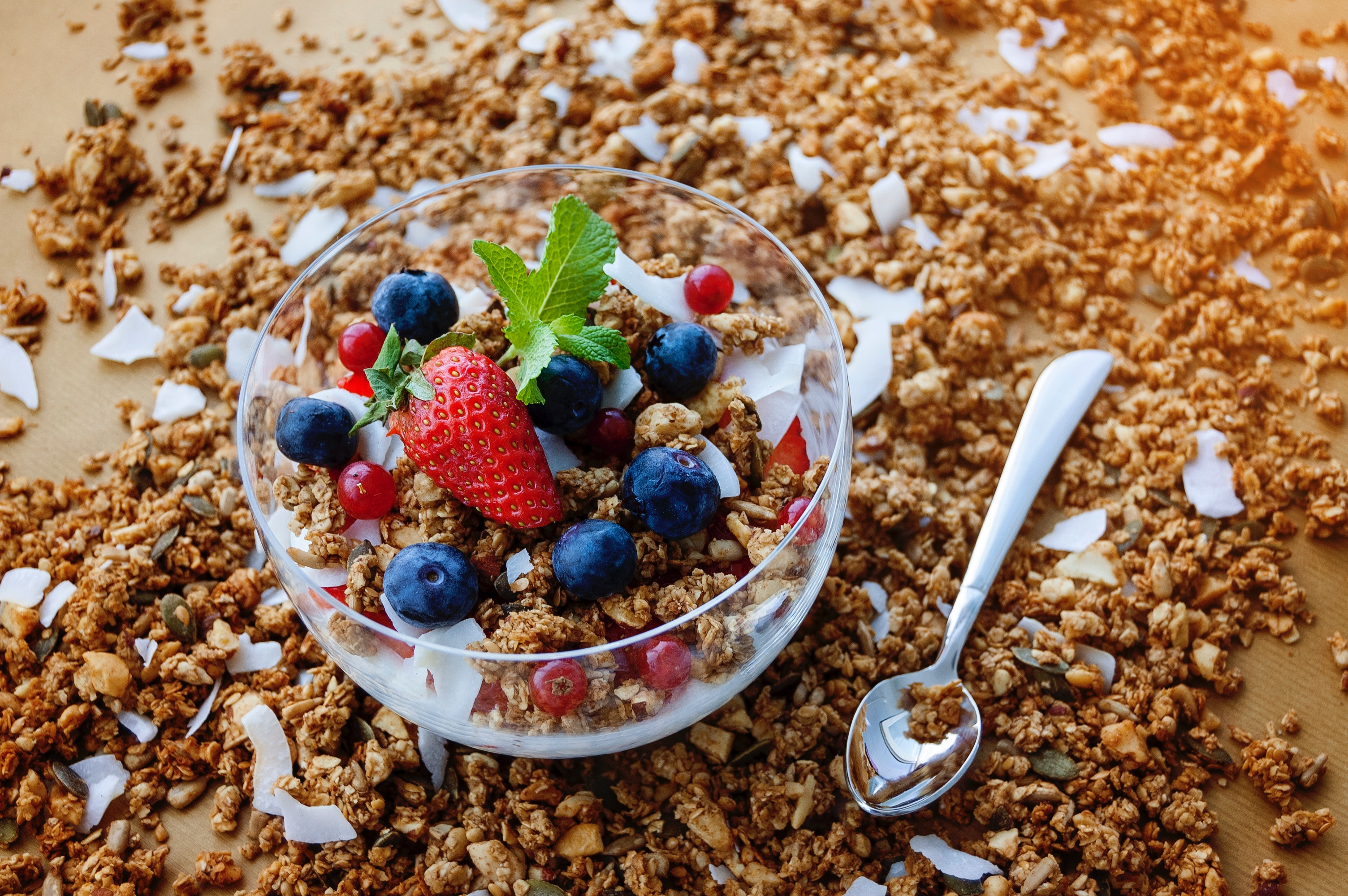 Granola is the preferred snack for active people