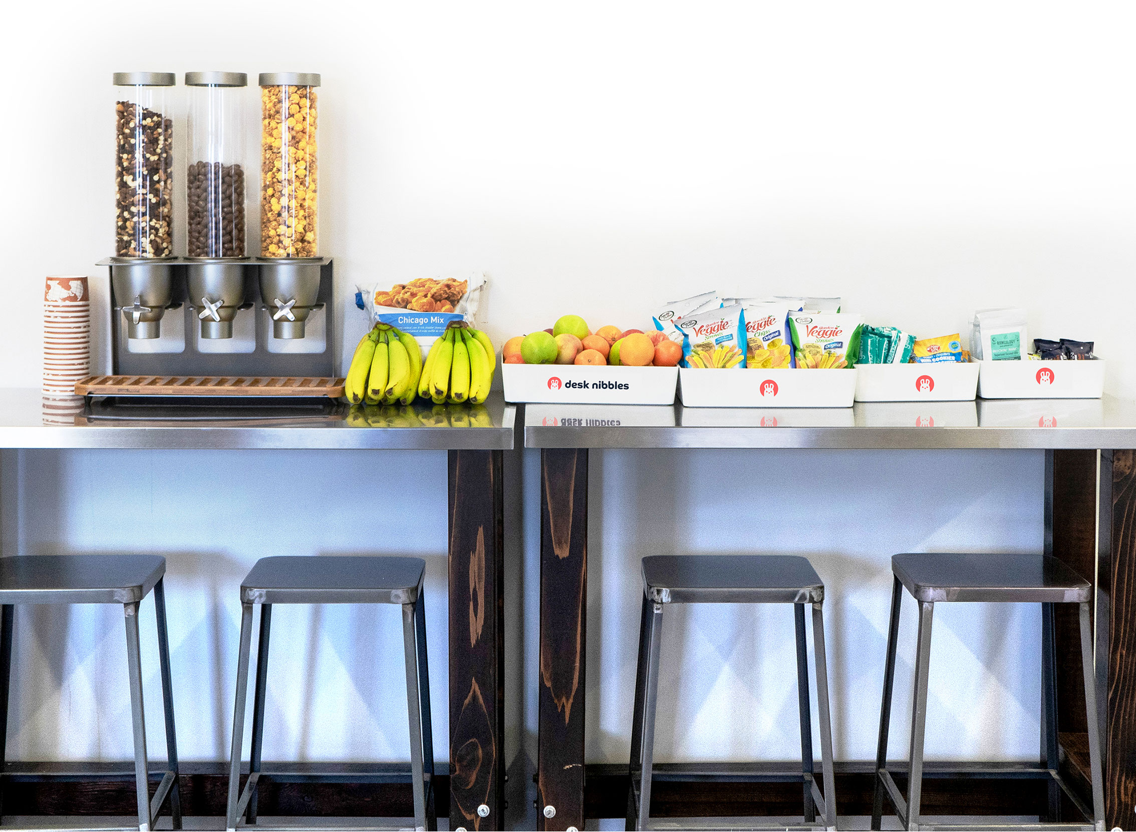 Smart Kitchens are a great way to serve a lot of helathy office snacks.