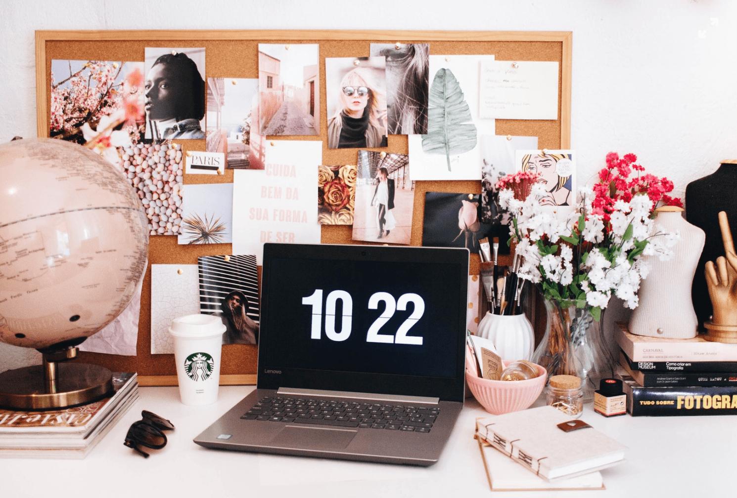 Desk organizers are a great office organization idea!