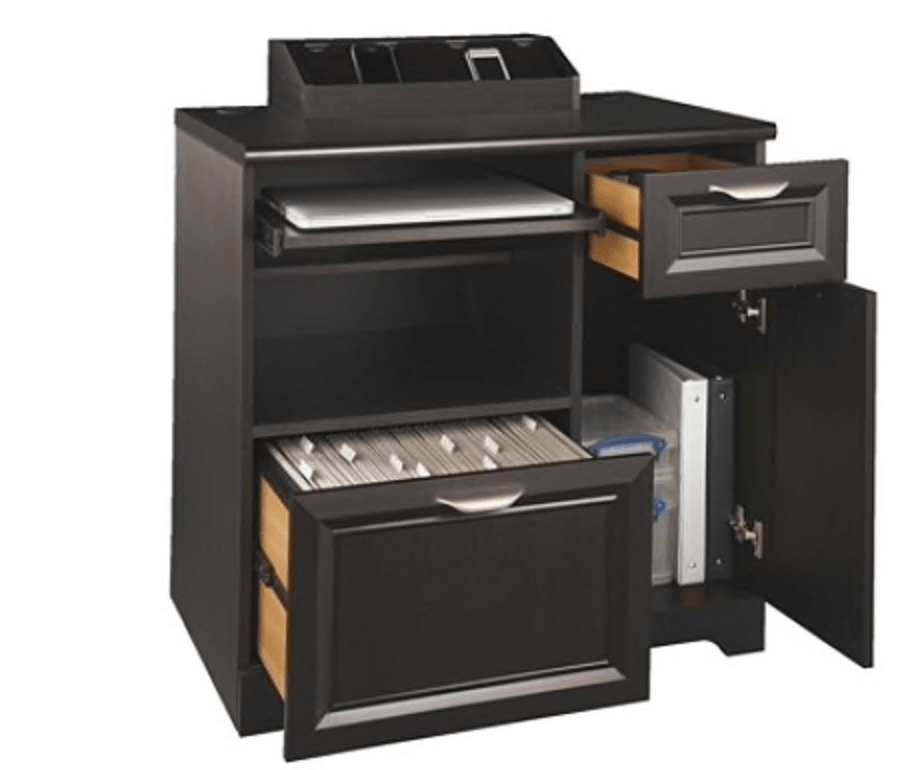 A printer station can add a functional flair to office organization!