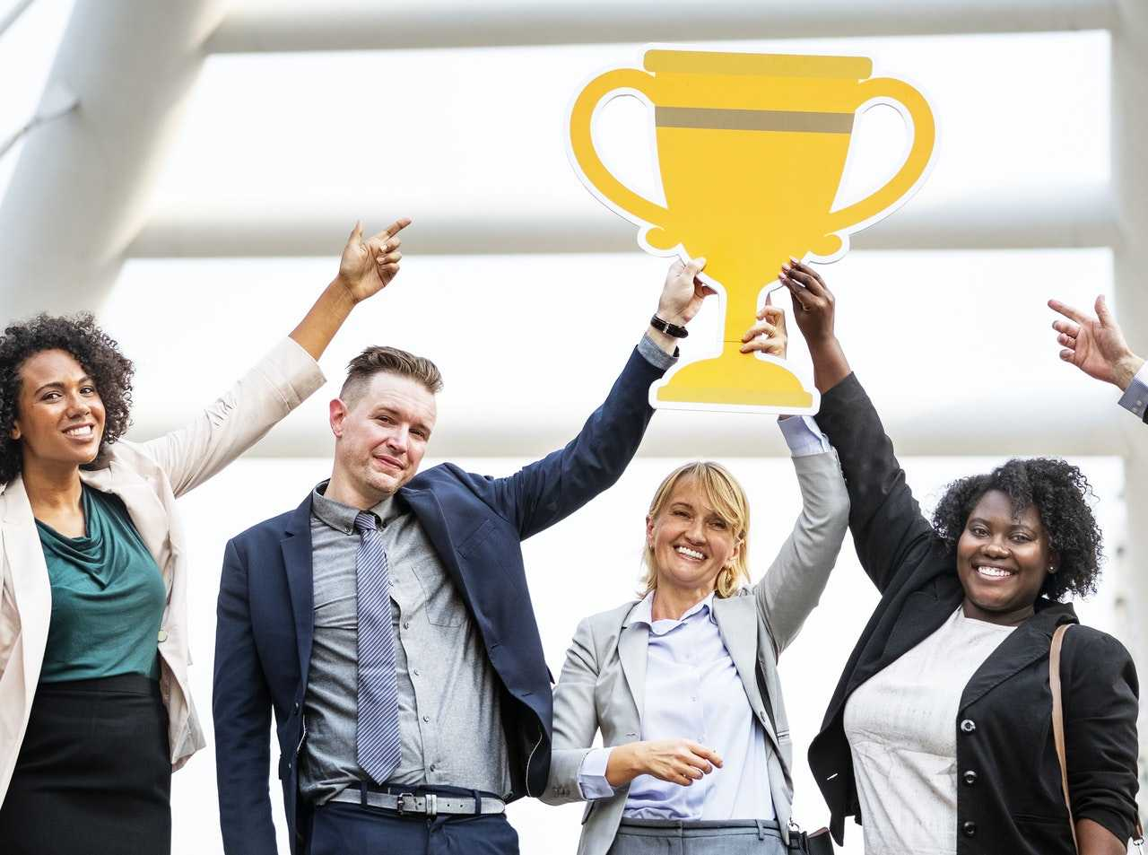 Show your employee appreciation with a custom office trophy for those big wins!