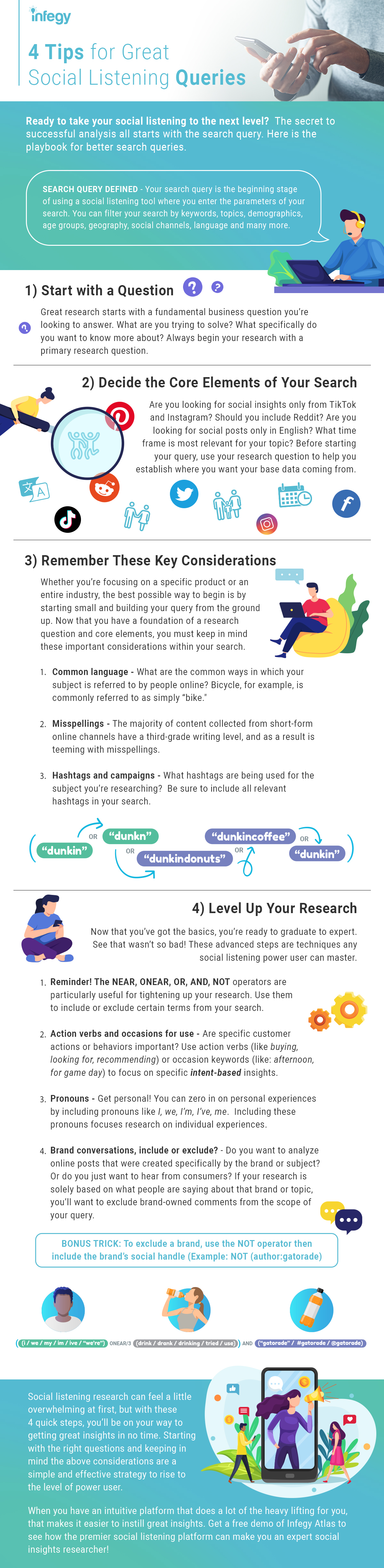 4 Tips for Great Social Listening Queries