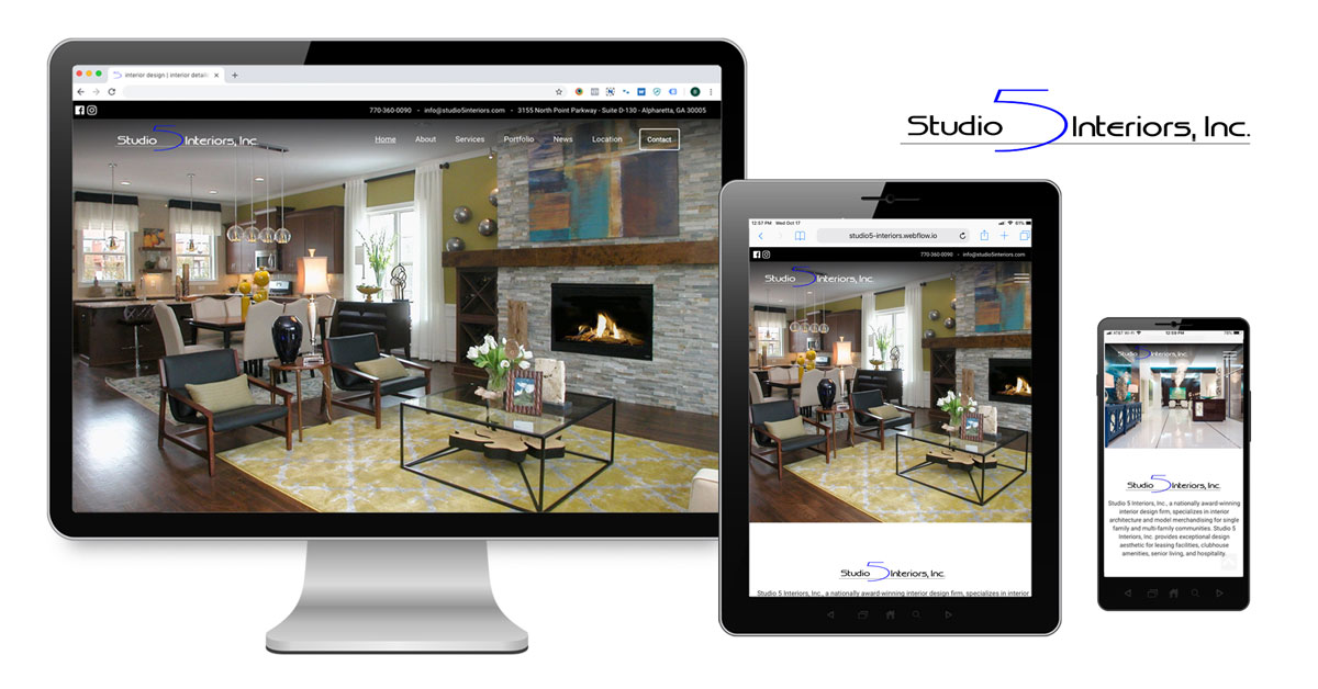 Studio 5 Interiors Launches New Website Interior Design
