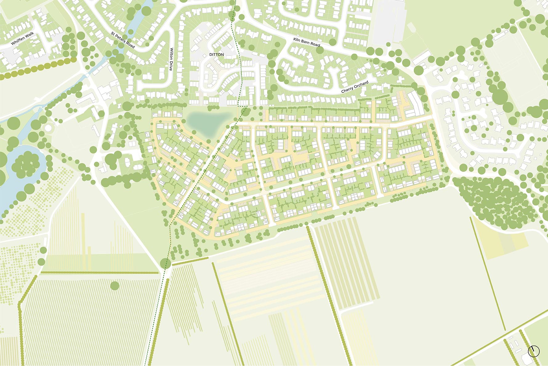 Ditton Edge illustrative master plan