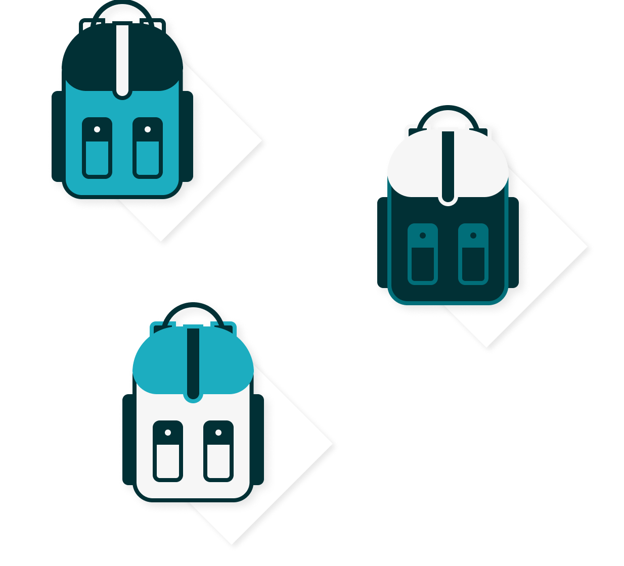 illustration of a multipack of backpacks