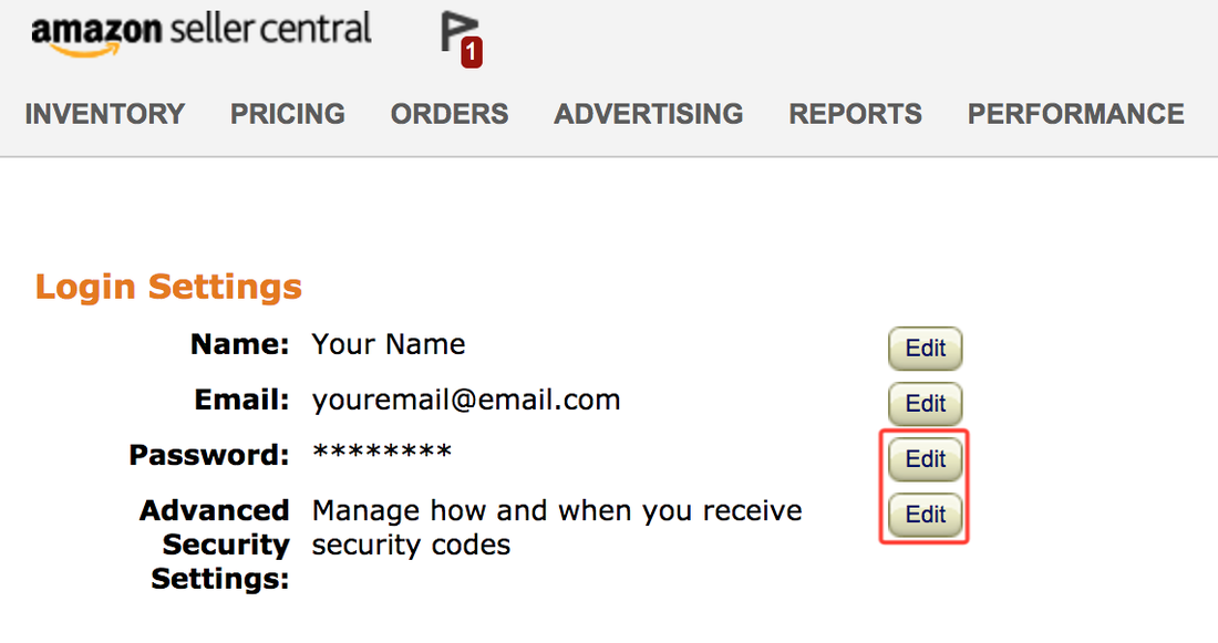 How to reset your Seller Central password and enable 2-step