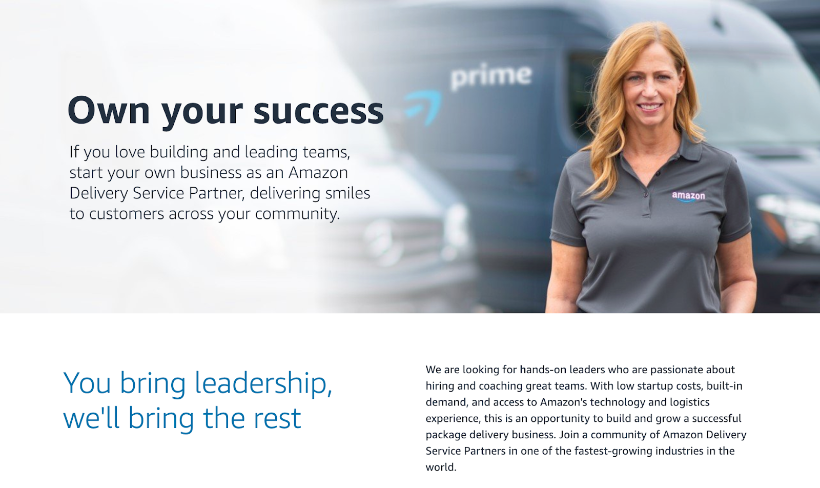 promo for amazon logistics program