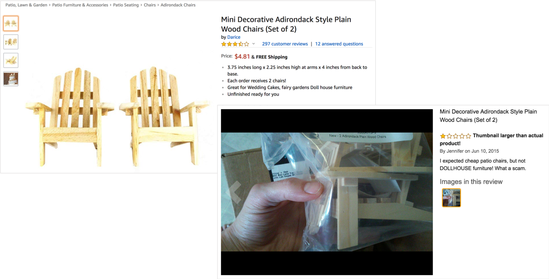 example of bad images on an ecommerce product listing