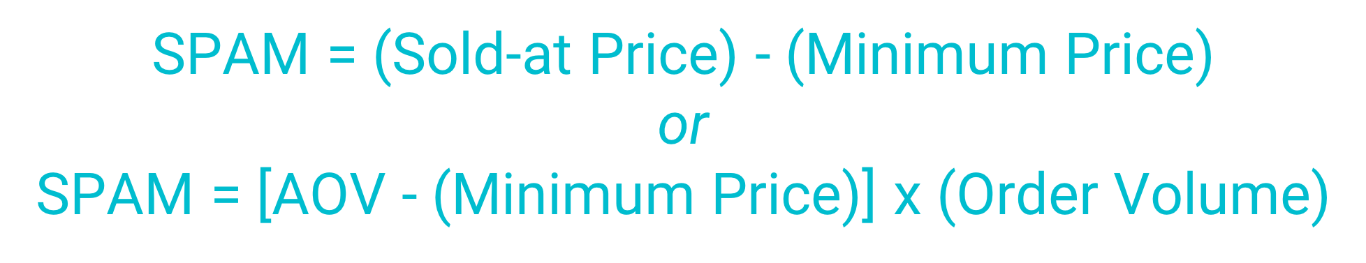 formula for calculating sales price above minimum