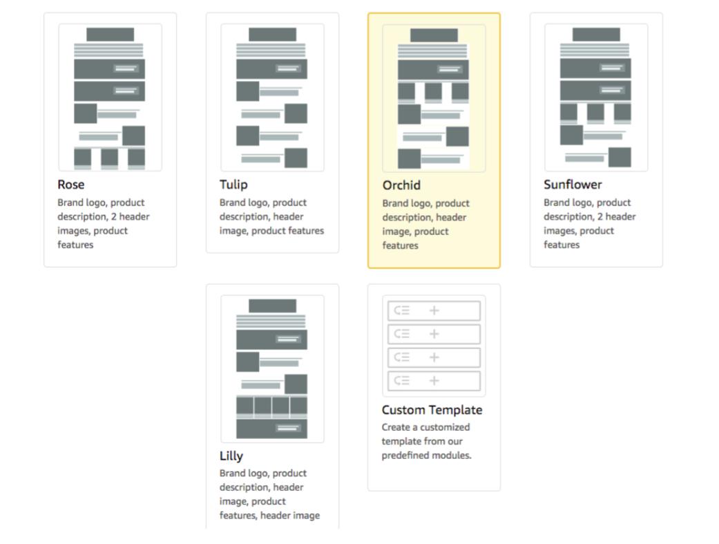 amazon enhanced brand content templates