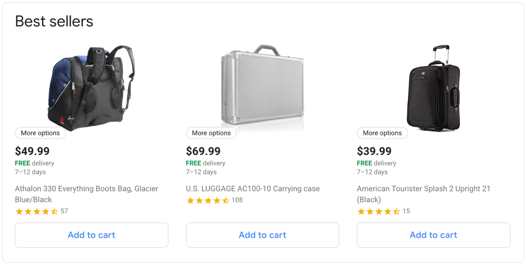 snapshot of the portmantos google express store