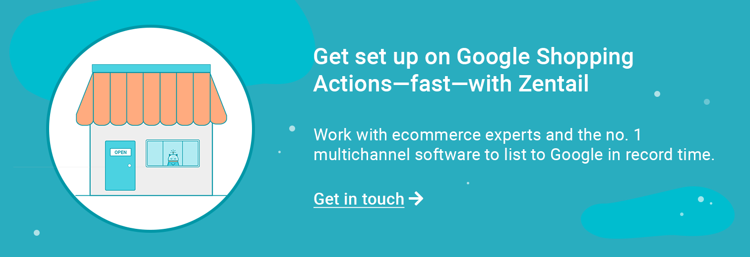 contact form for getting set up on google shopping actions