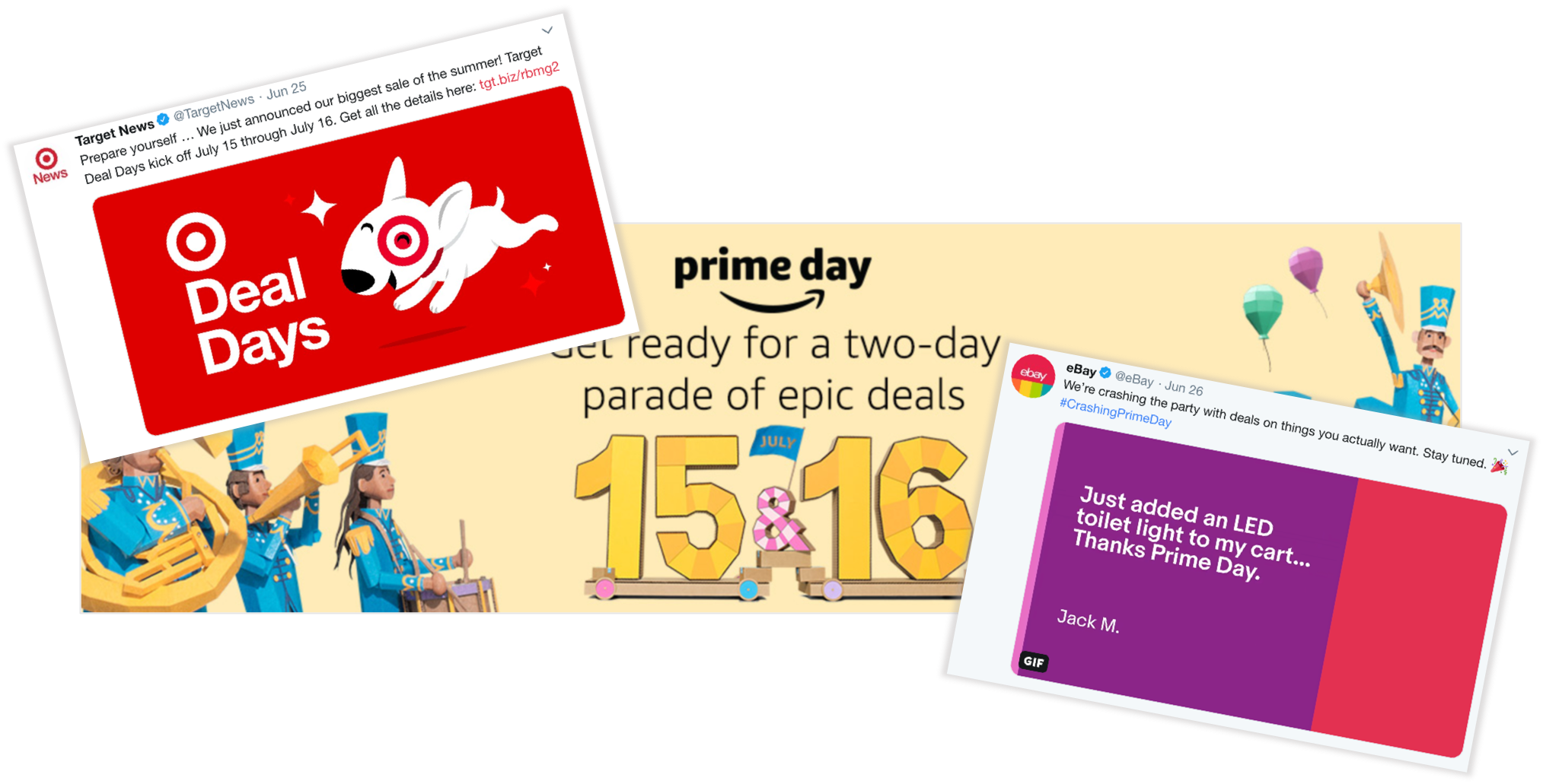 example of prime day sales by ebay and target