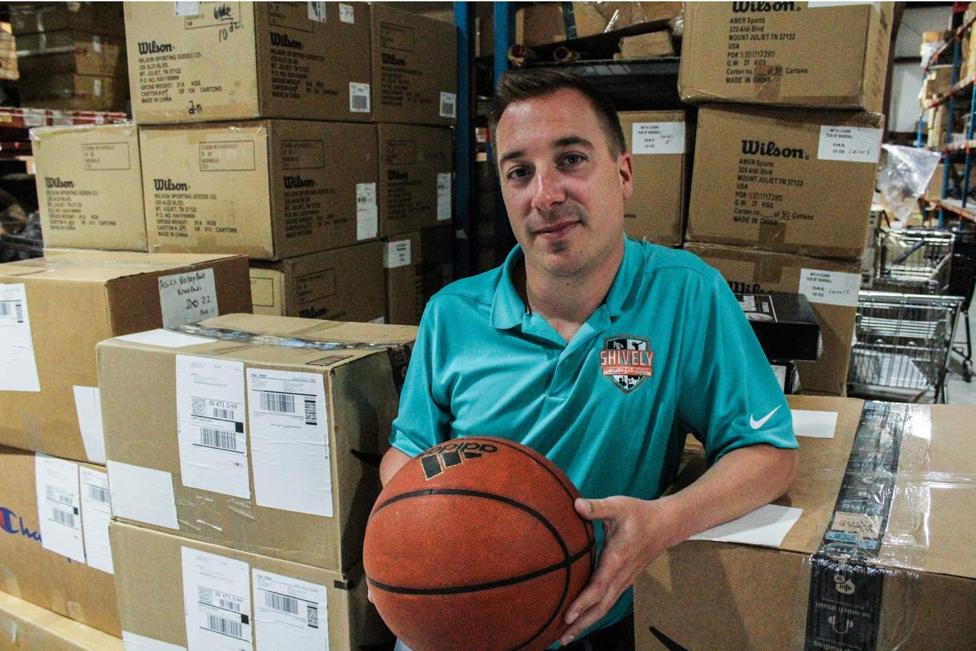 photo of adam flanders, head of ecommerce at shively sporting goods