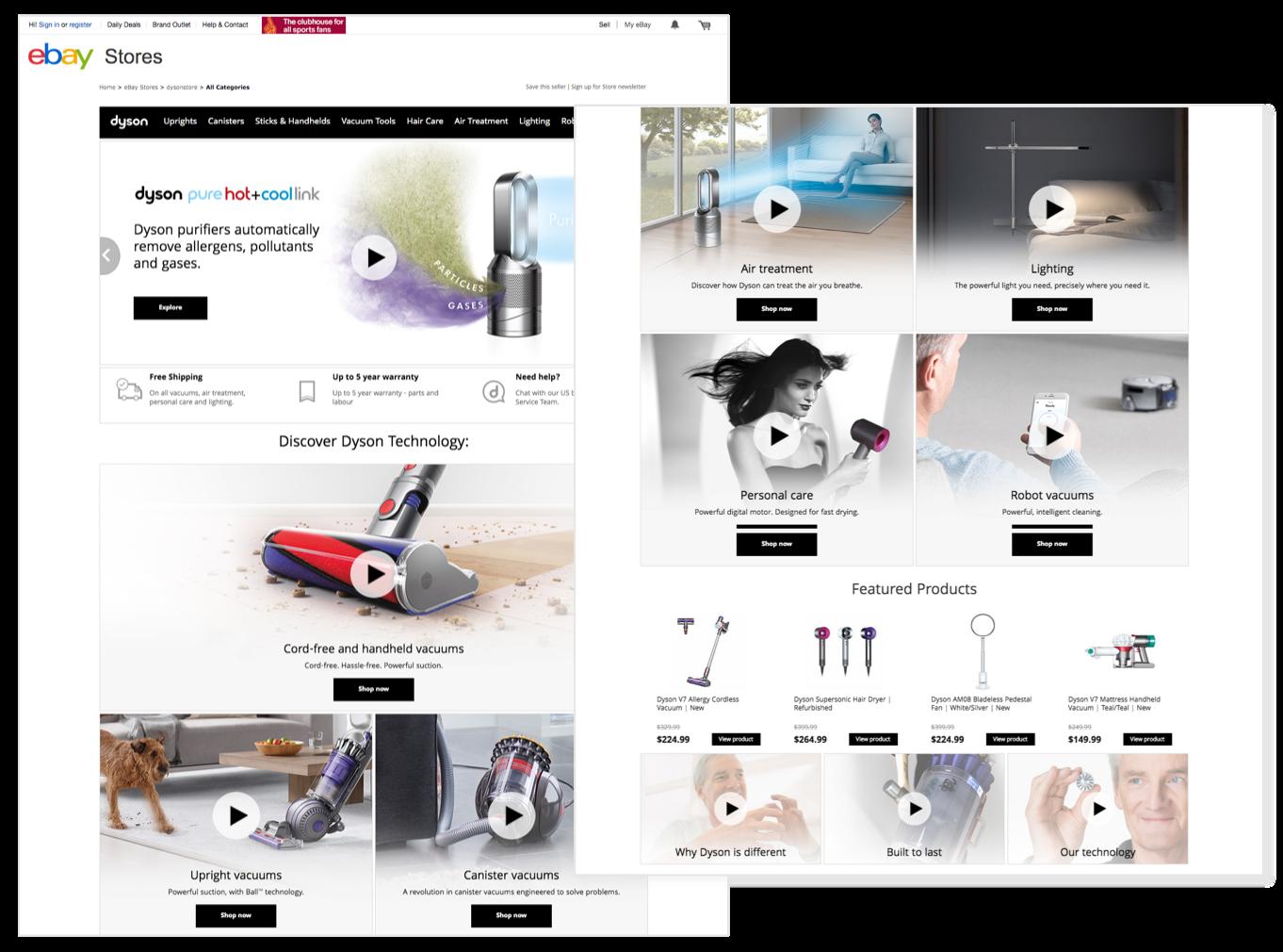 dyson's ebay storefront