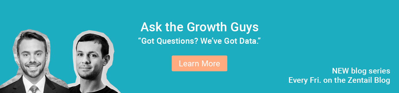 promotion for new blog series called ask the growth guys