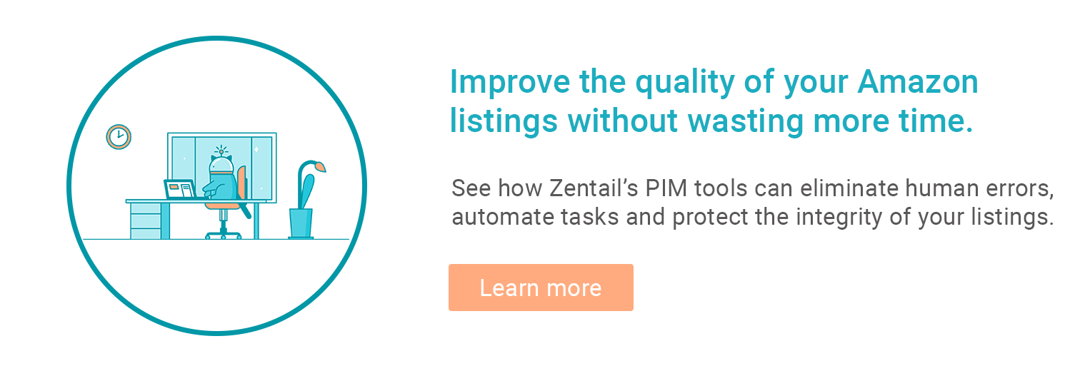 learn more button for zentail's listing optimization tools