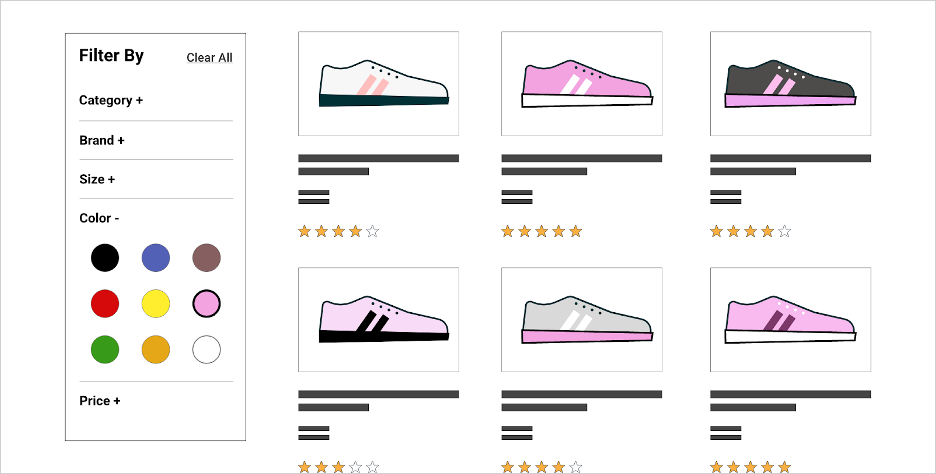 example of a custom filter on a shopify or bigcommerce blog