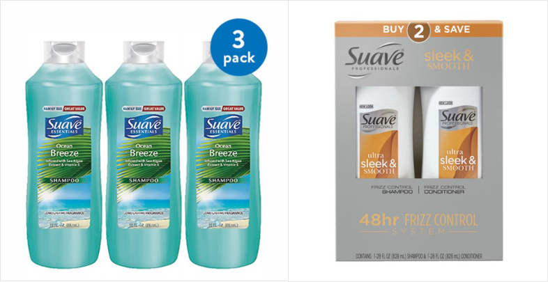 multipack of shampoo bottles and bundle of conditioner and shampoo