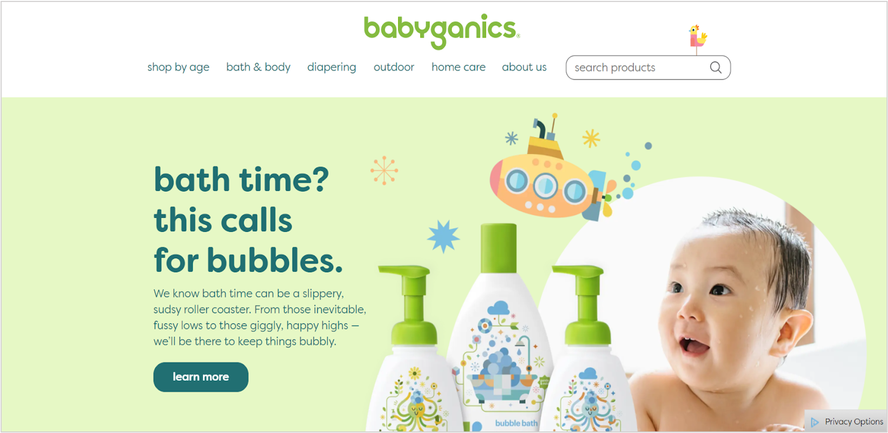 Babyganics homepage