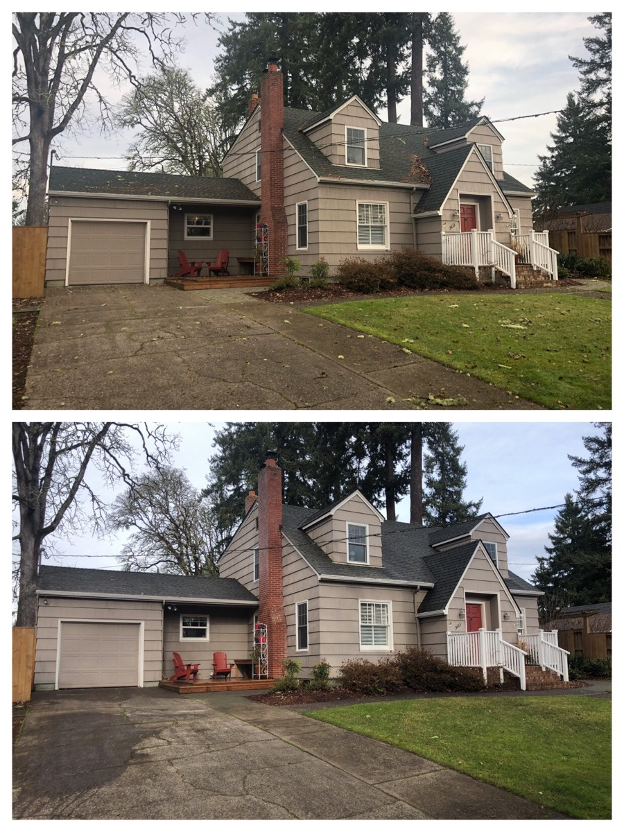 Before and after image of home cleaned by Beckon Call